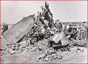 Gary Powers' crashed U2 Airplane