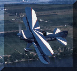 A great picture picture of Jerry Spears flying his Pitts Aerobatics Airplane from the back cover of Sports Aerobatics