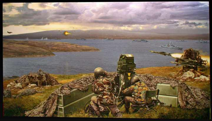 San Carlos in the Falklands War / Malvinas War