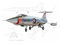 F-104 Starfighter Paper Airplane collectable plastic model airplane kit.