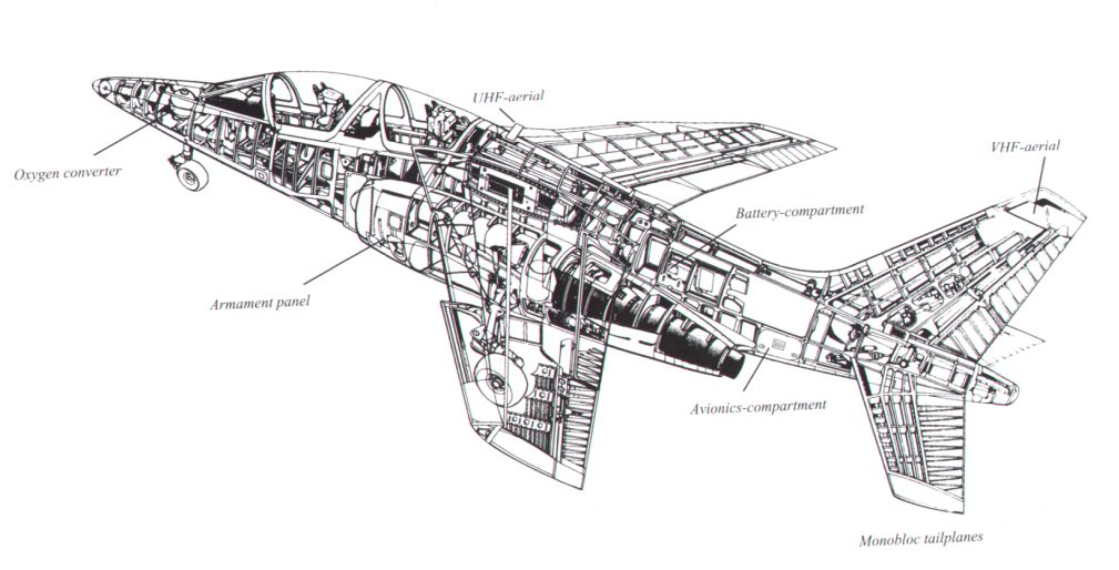 yellowairplane com  alpha jet cutaway drawing showing the
