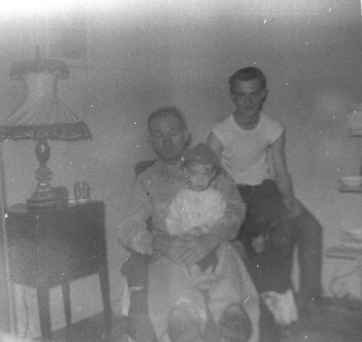 Uncle Joe, My older Brother Jimmy and a little boy, Me the Webmaster