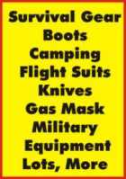 Survival Gear, Military Equipment, Camping Equipment