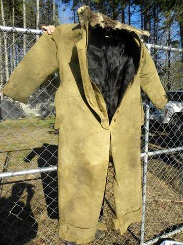 Full View of the Gordon and Ferguson Aero Coveralls Showing Fur Lining