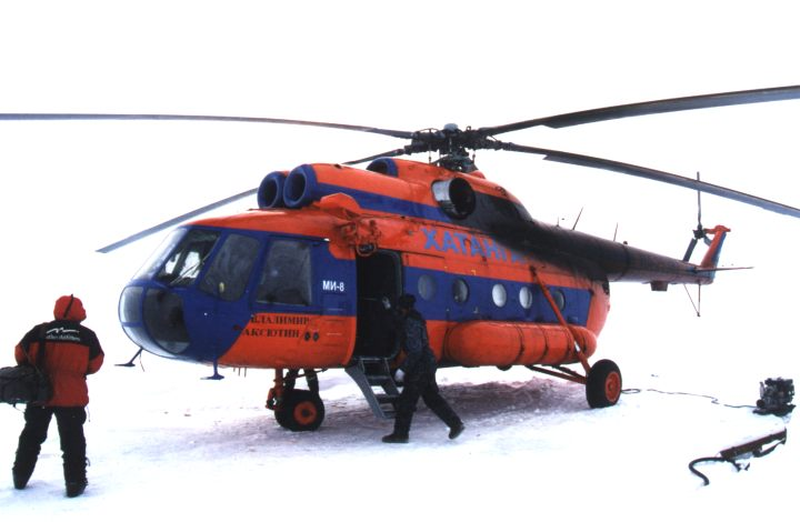 Russian Mil Mi-8 Helicopter on the North Pole