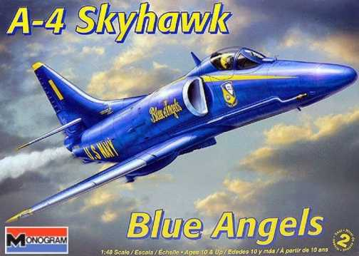 A Monogram Model of a 1/48 Scale Blue Angels A-4 Skyhawk